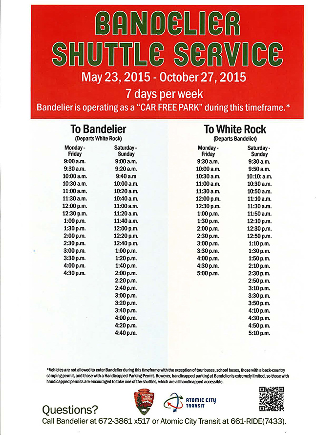 2015 Shuttle Schedule Small