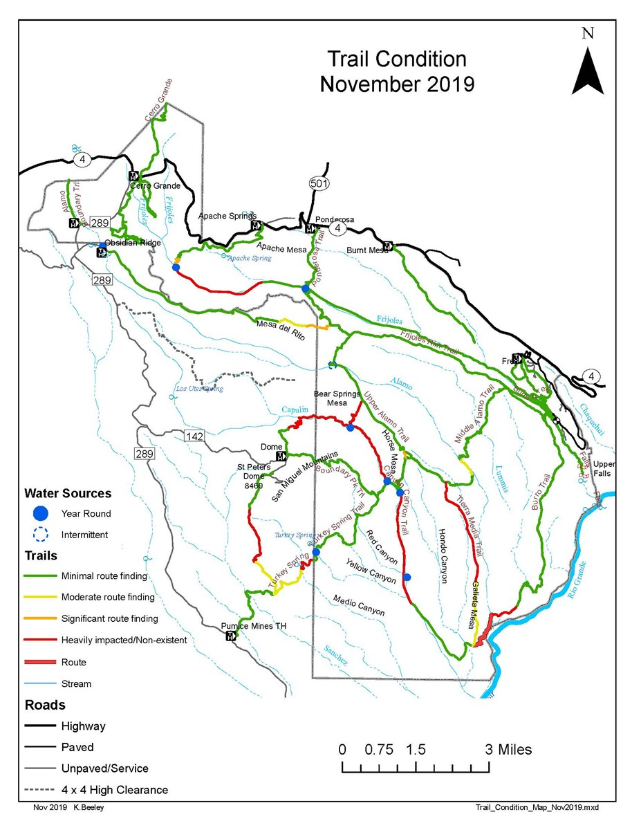 trail conditions map Nov 2019