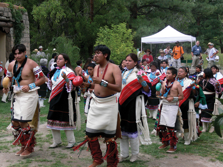 Zuni dancers at Bandelier