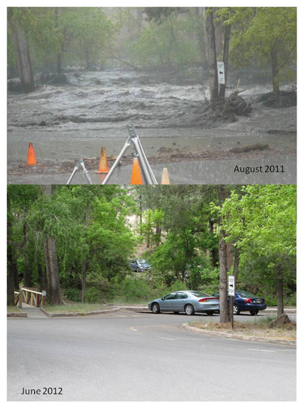 flooded parking lot 2011-2012