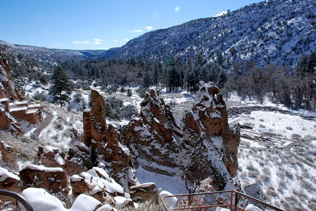 frijoles canyon in winter