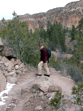 hiker on the Frijolito Loop Trail