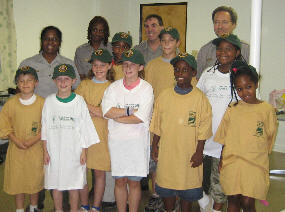 a picture of the Junior Rangers and the park rangers of Greenbelt Park, Maryland