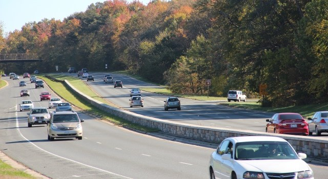Vehicles travelling on  the Baltimore Washington Parkway