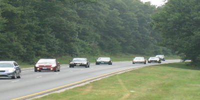 a picture of vehicles travelling the Baltimore Washington Parkway