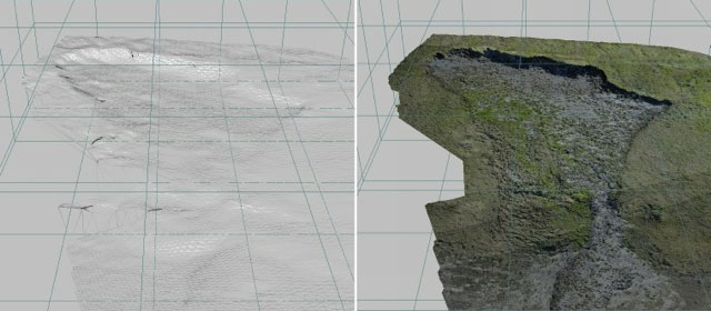 Using 3-D imagery to visualize a thaw slump