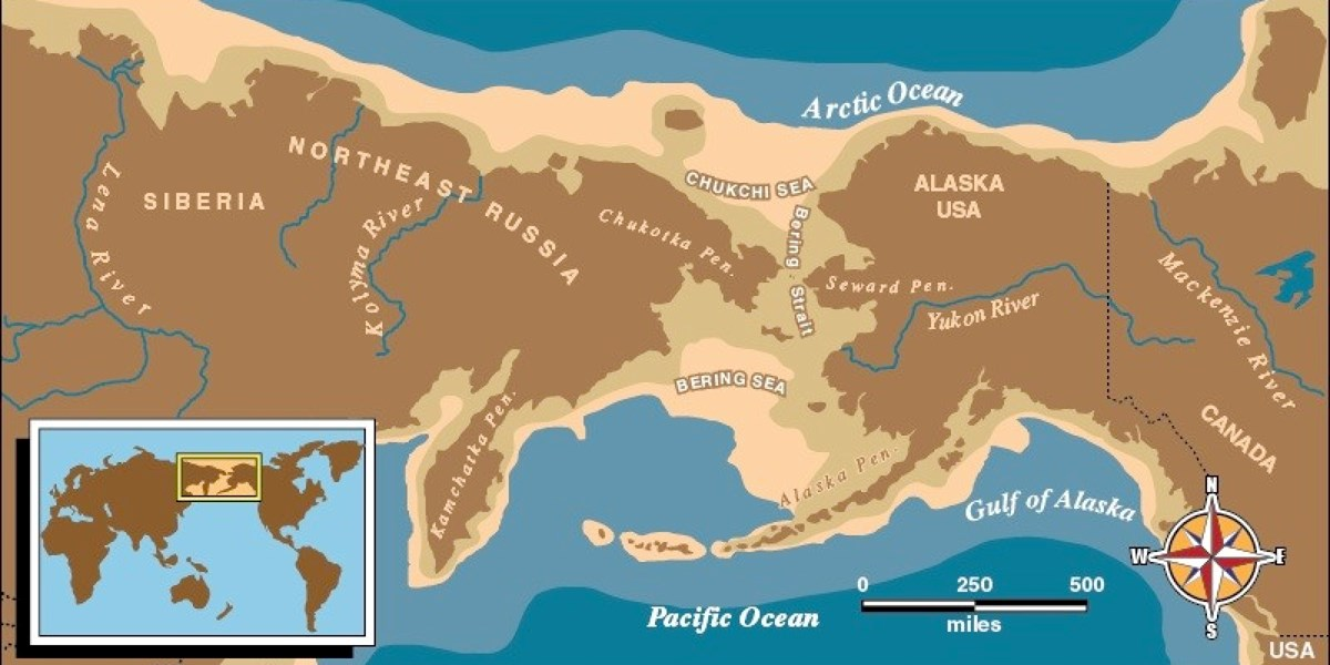 World Map Bering Strait.The Bering Land Bridge Theory Bering Land Bridge National Preserve
