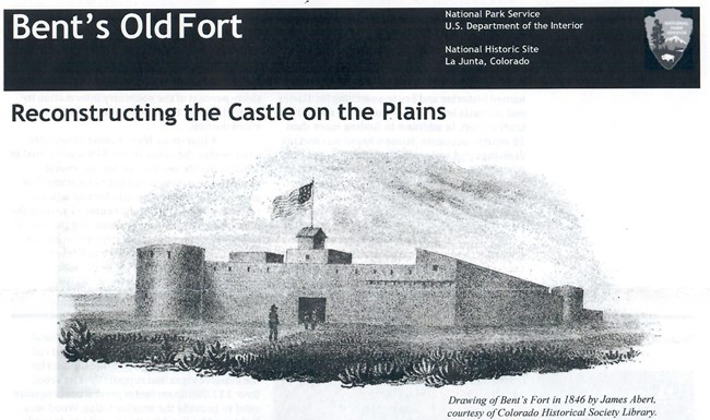 Brochure about Bent's Fort Reconstruction