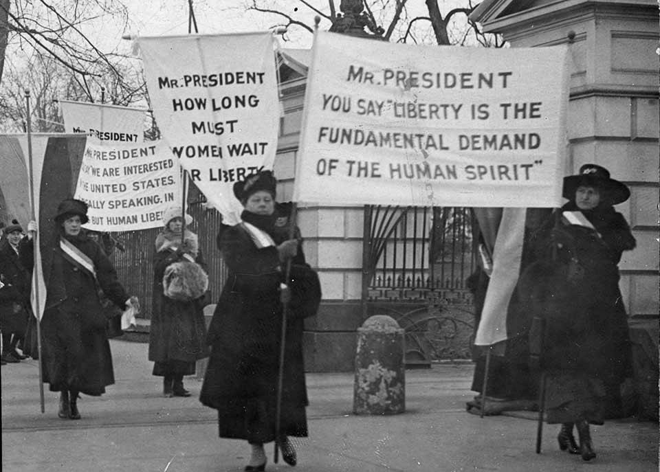 womens suffrage movement 1920