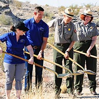 Fossil Discovery Exhibit Ground Breaking
