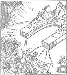 1944 cartoon regarding the opening of the park