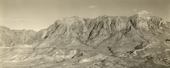 Aerial photograph of the Chisos Mountains, 1937