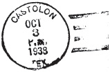 1938 postmark from the Castolon post office