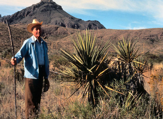 Ross Maxwell in Big Bend, probably 1978.