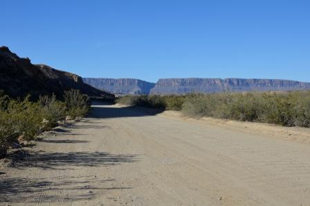 Santa Elena Canyon from the Old Maverick Road