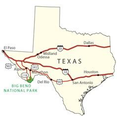 Park Cities Dallas Map.Directions Transportation Big Bend National Park U S National