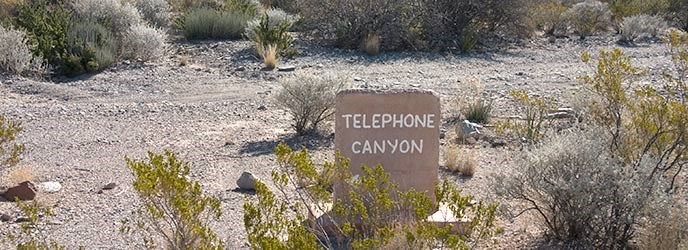 Telephone Canyon Junction Sign