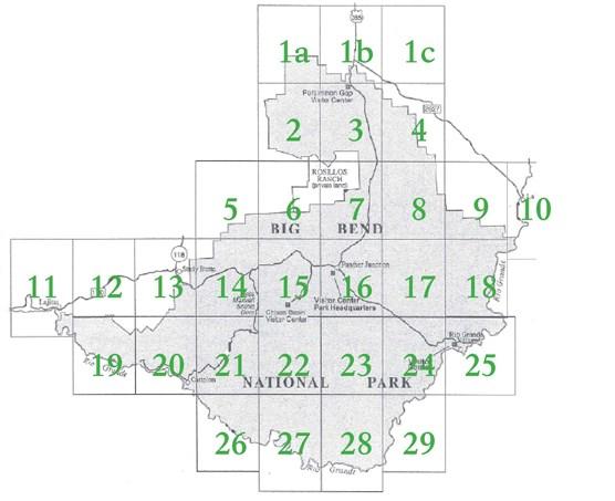 Topographic Map Index - Big Bend National Park (U.S. National Park ...