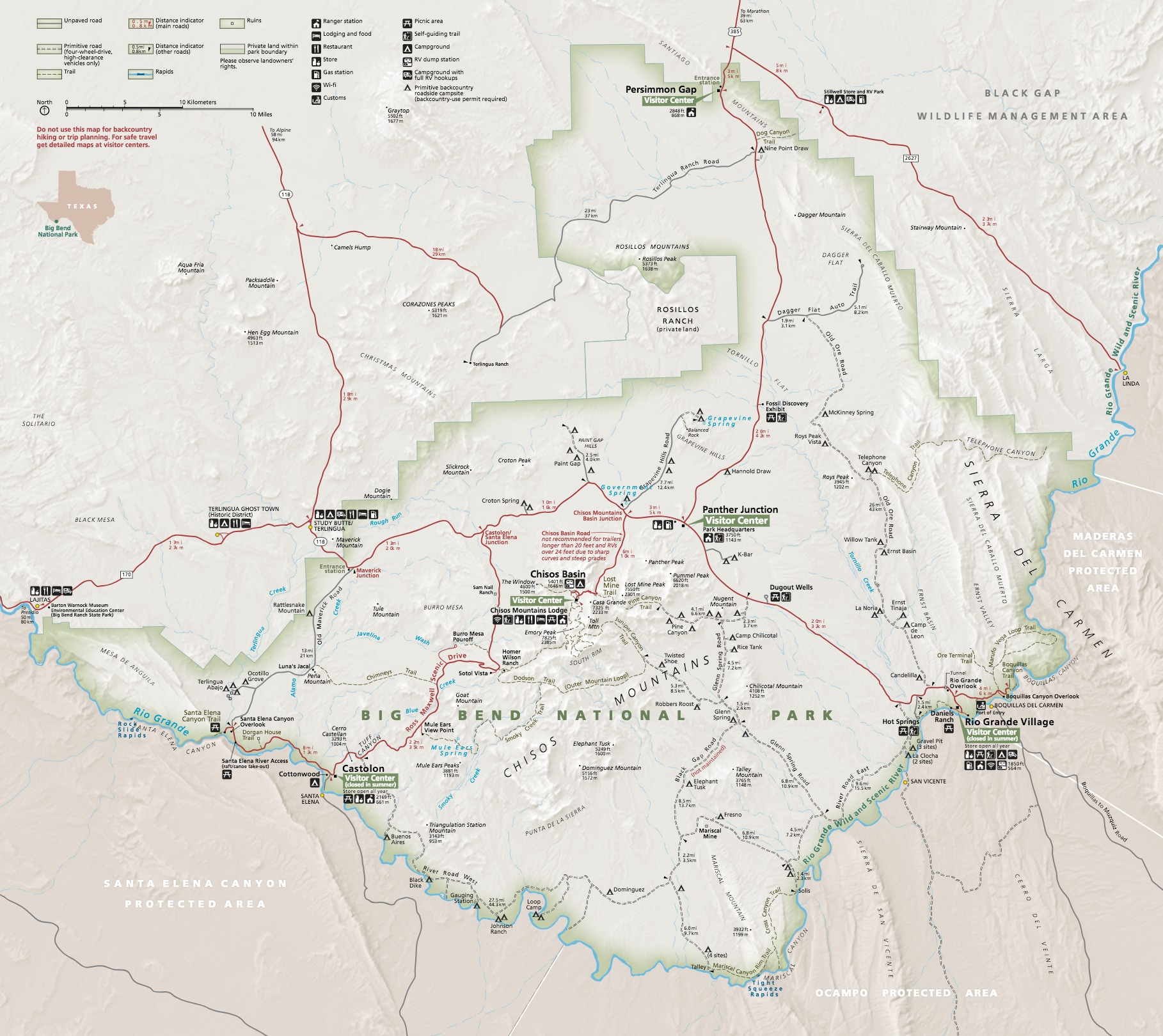 Maps - Big Bend National Park (U S  National Park Service)