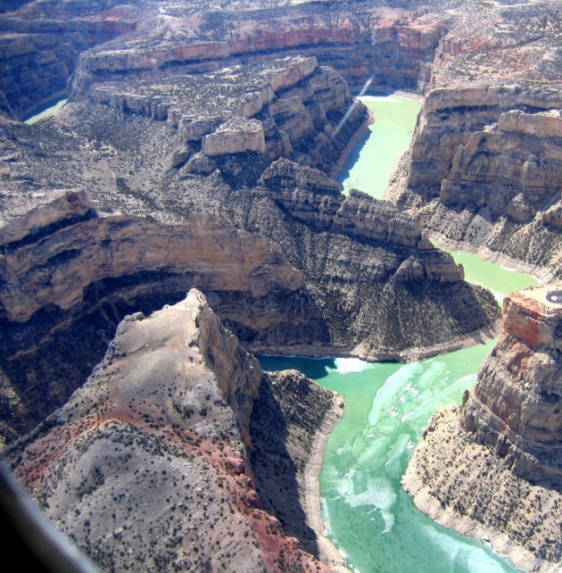 Aerial view of Bighorn Canyon