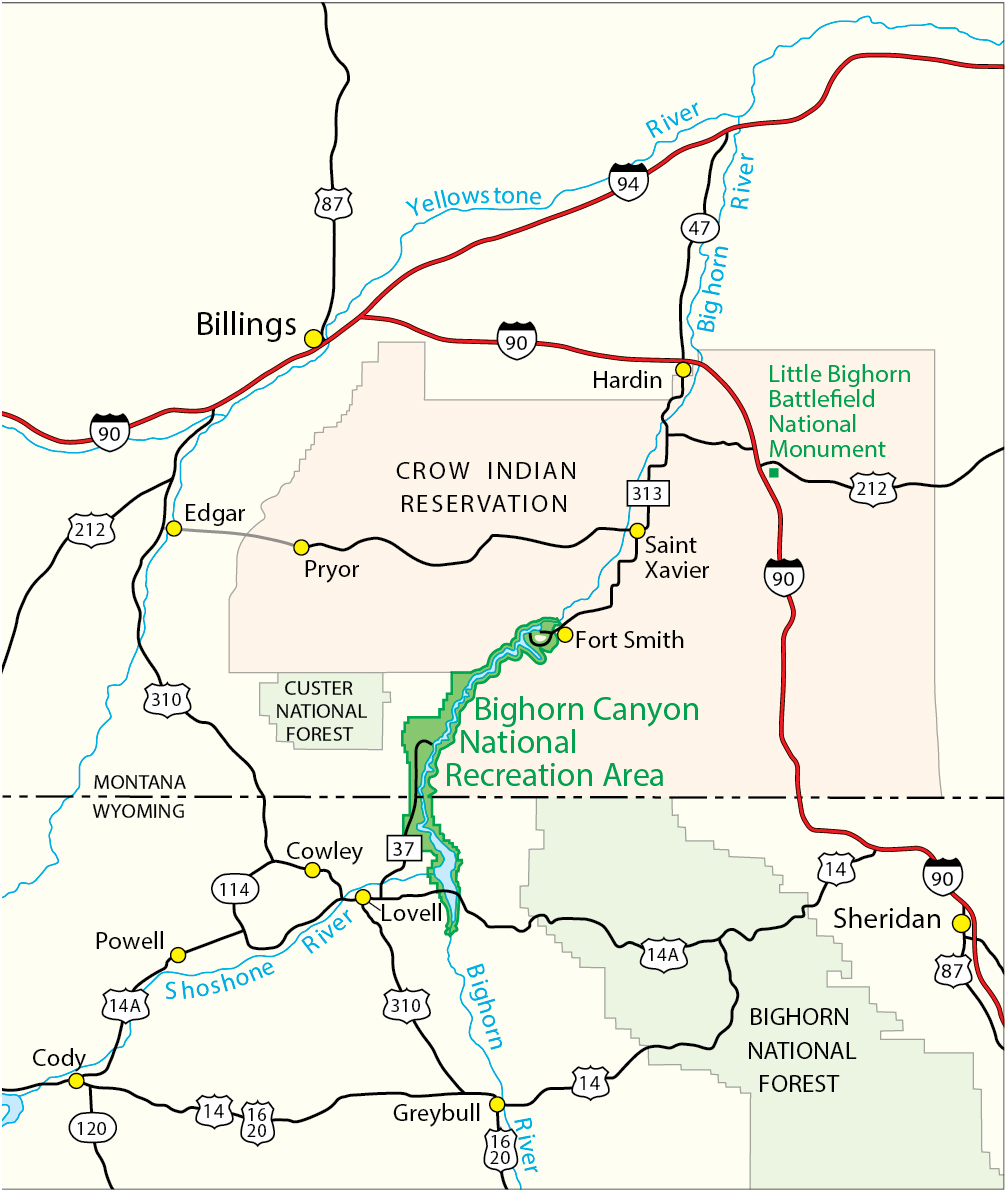 Maps Bighorn Canyon National Recreation Area U S National Park
