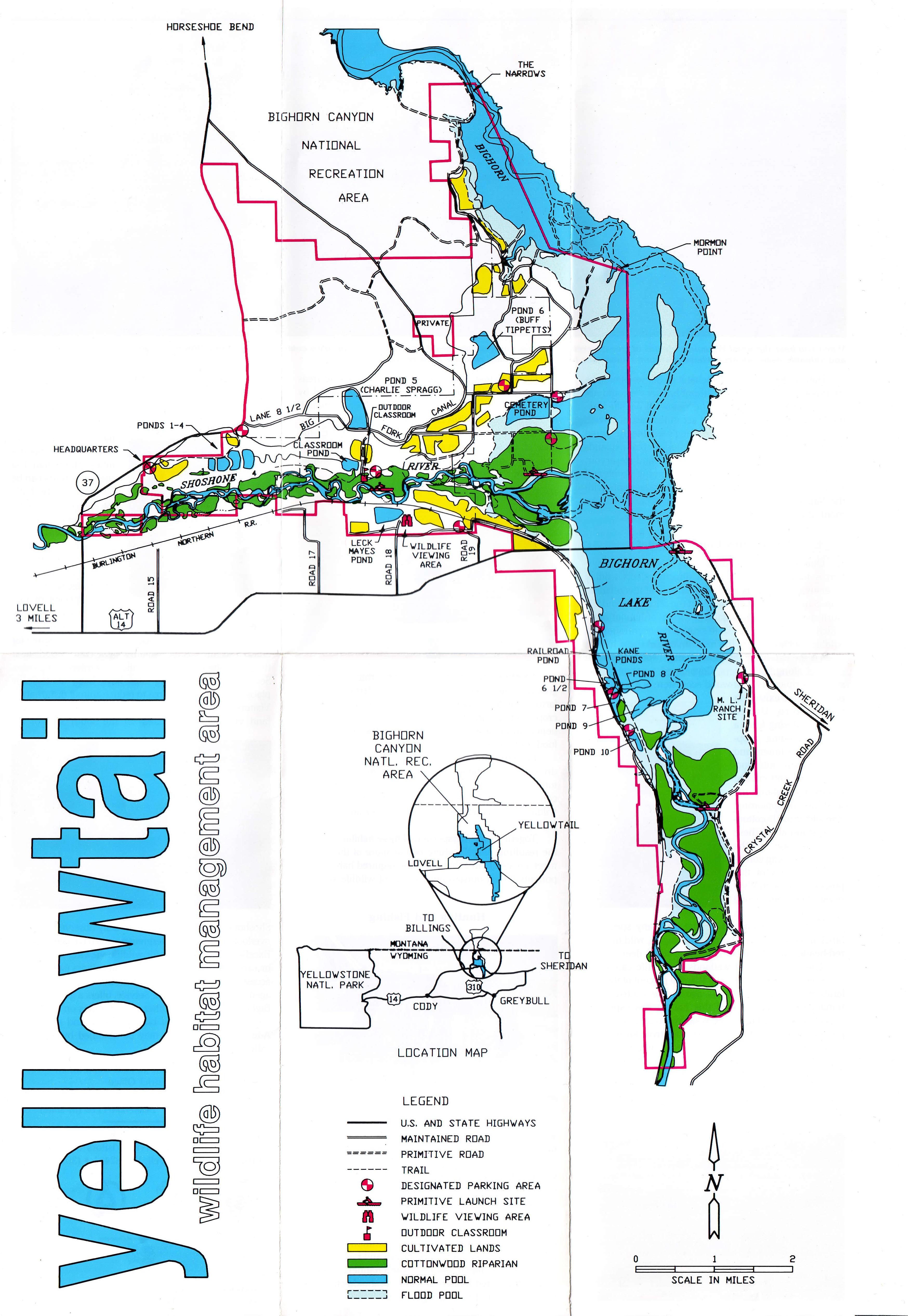 Maps - Bighorn Canyon National Recreation Area (U.S. National Park ...
