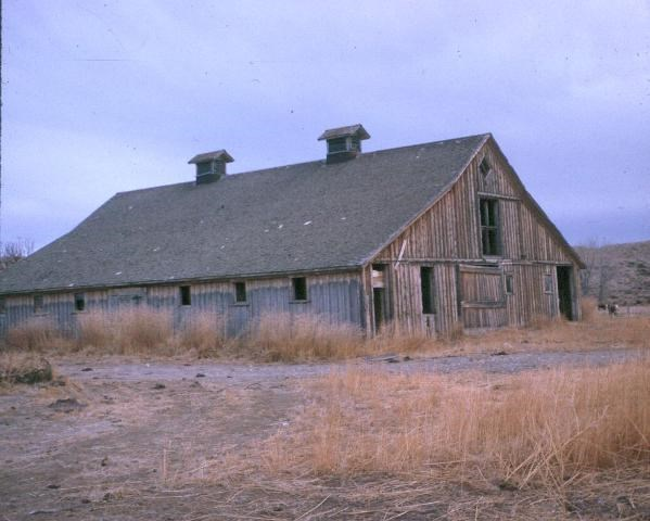 This beautiful barn at the M-L Ranch has been lost to history