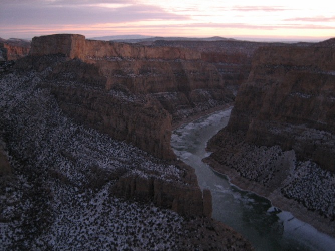 Winter scene in Bighorn Canyon
