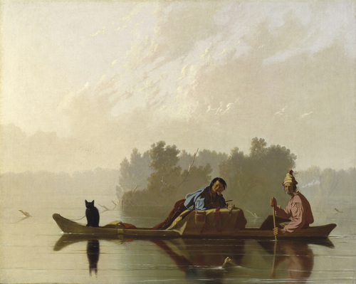 Fur Traders on the Missouri by George Caleb Bingham