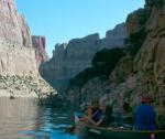 Canoeing in Bighorn Canyon