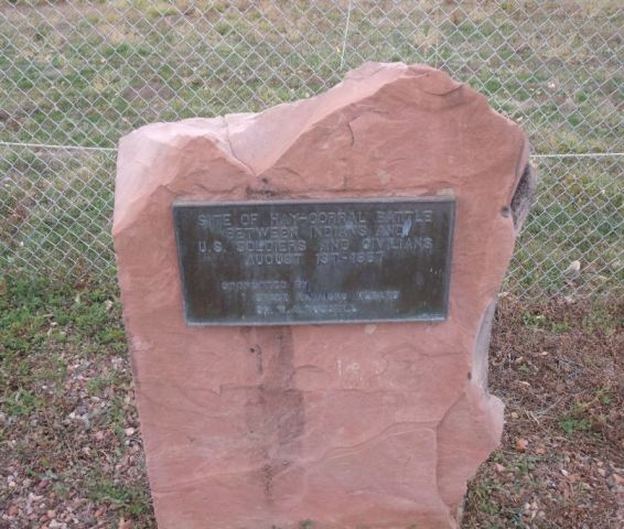 Hayfield fight historic marker