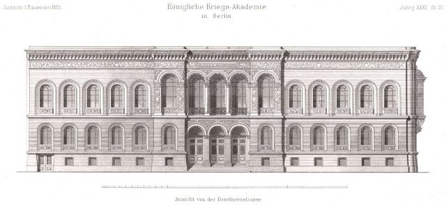 Engineering and Artillery School in Berlin