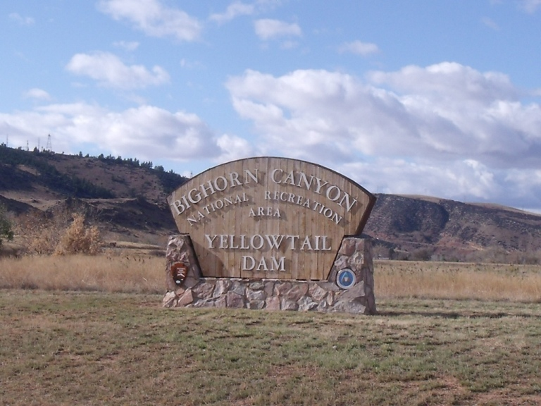 Bighorn Canyon North District entrance sign