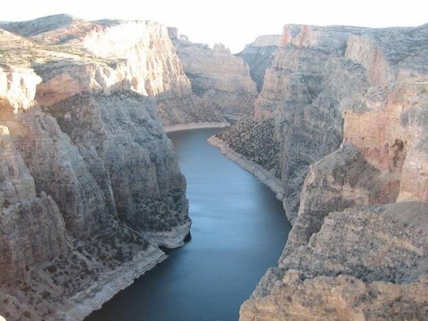 Water worked its magic in the carving of Bighorn Canyon