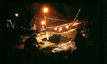 Excavation at Natural Trap Cave