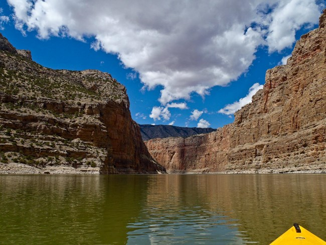 Kayaking in the canyon