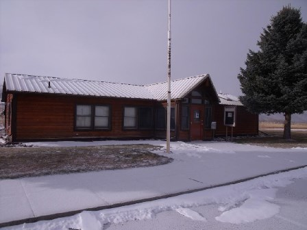 Winter scene at Afterbay Contact Station