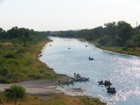 Fishermen on the Bighorn River