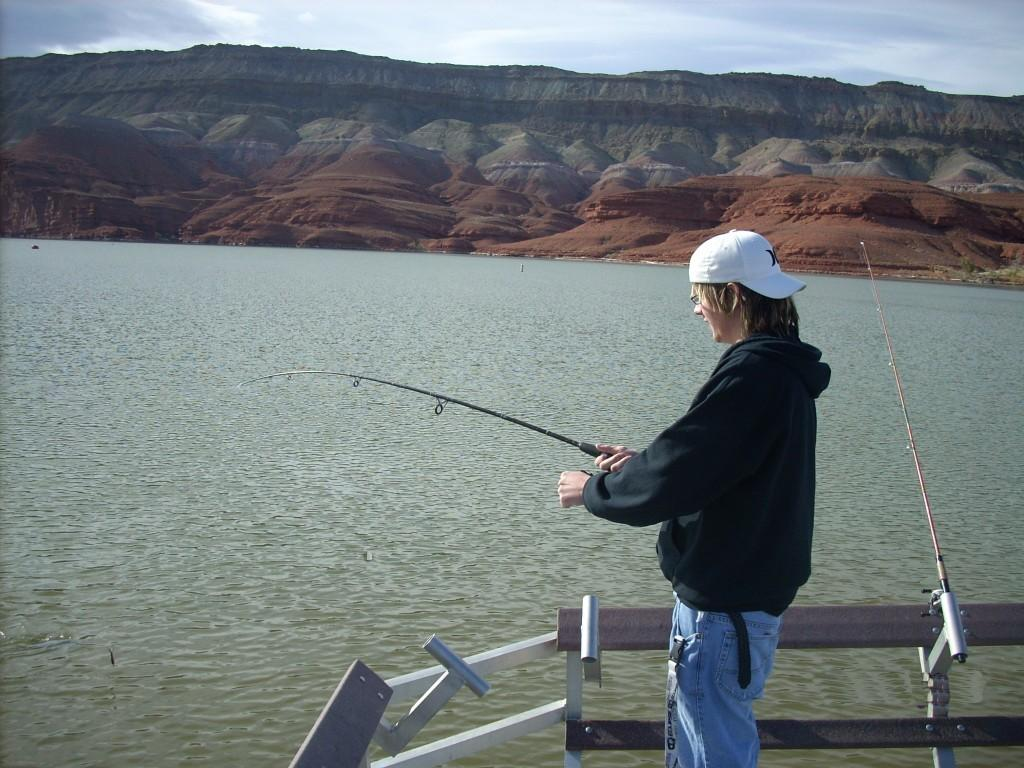 Fishing at Horseshoe Bend