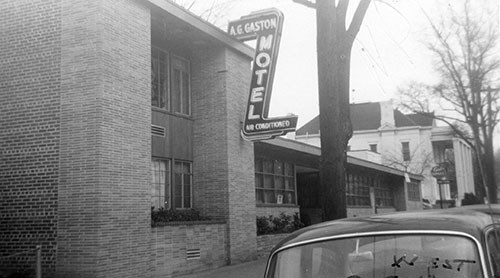 Historic photo of the A.G. Gaston Motel taken in 1954.