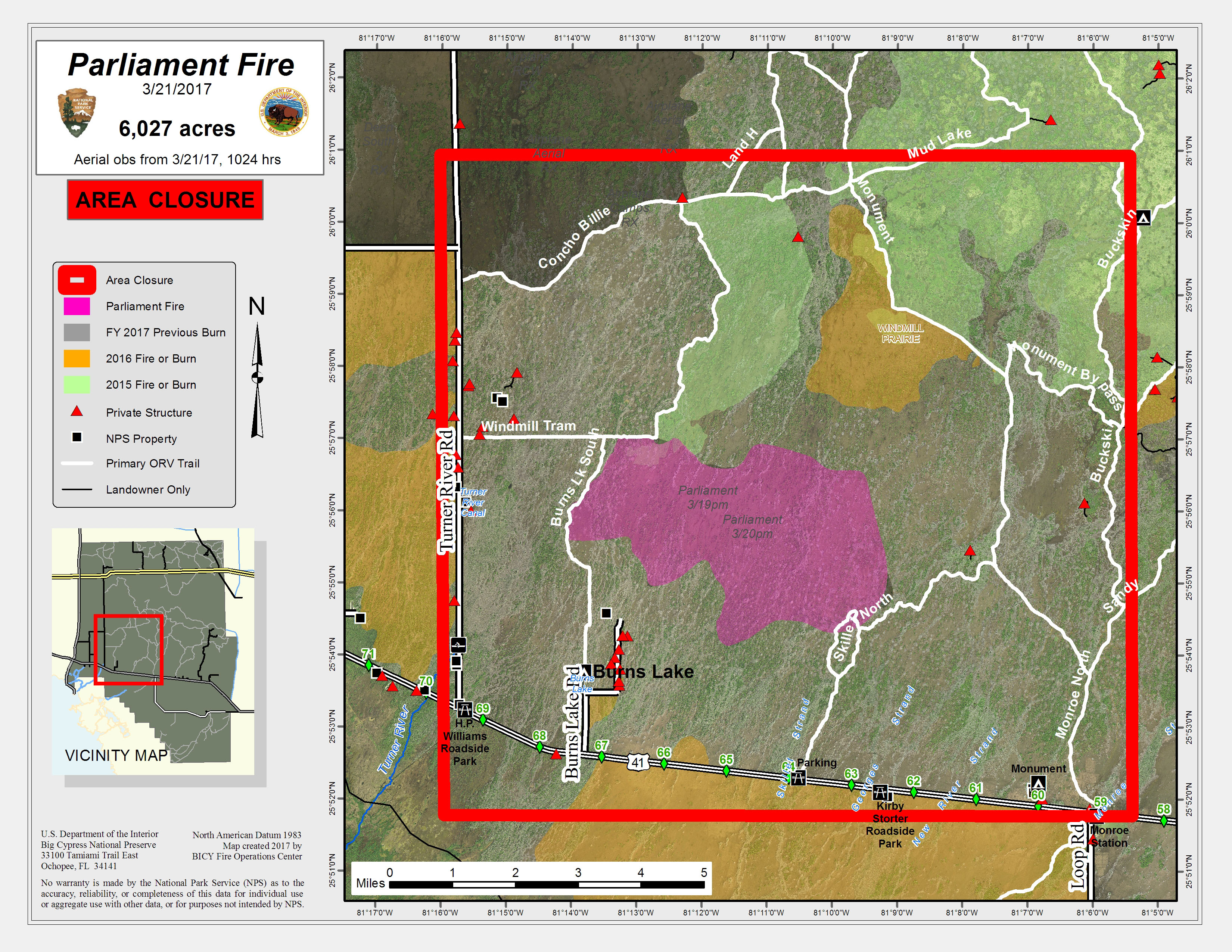 Parliament Fire Area Closure II