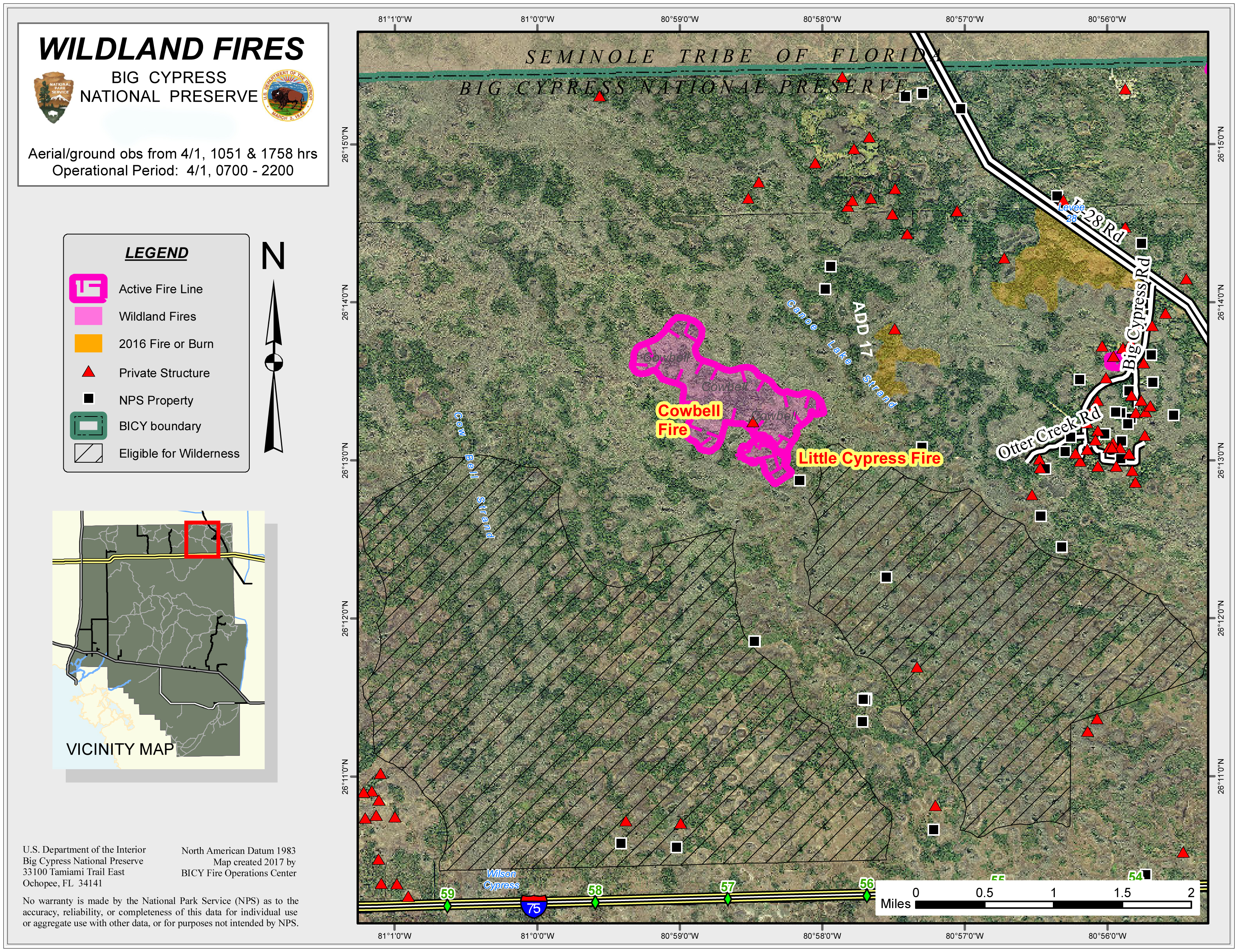 map of location for Cowbell Wildfire