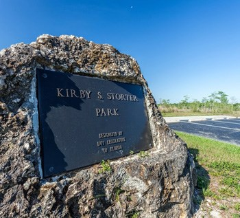 Plaque at Kirby Storter Roadside Park.
