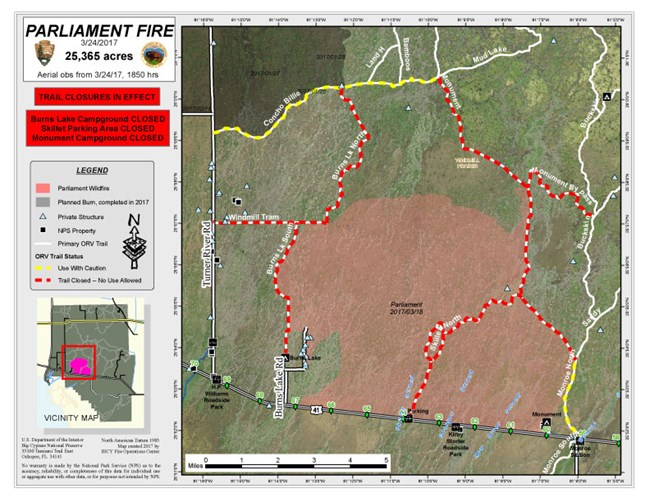 Florida Fire Map 2017.2017 Fire Activity Big Cypress National Preserve U S National