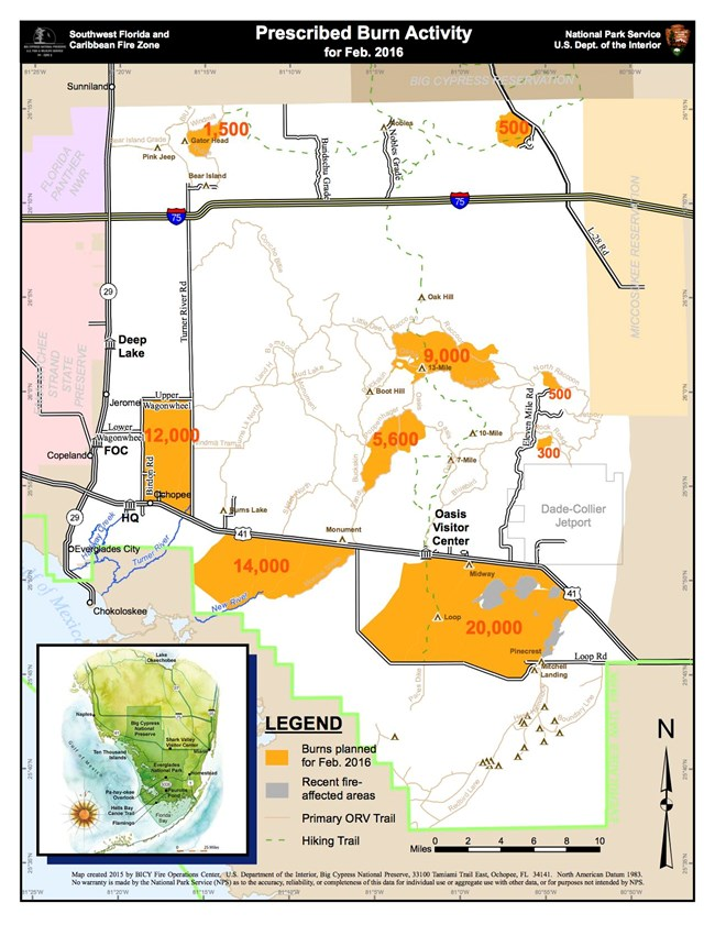 areas that are planned to be part of 2016 prescribed burn