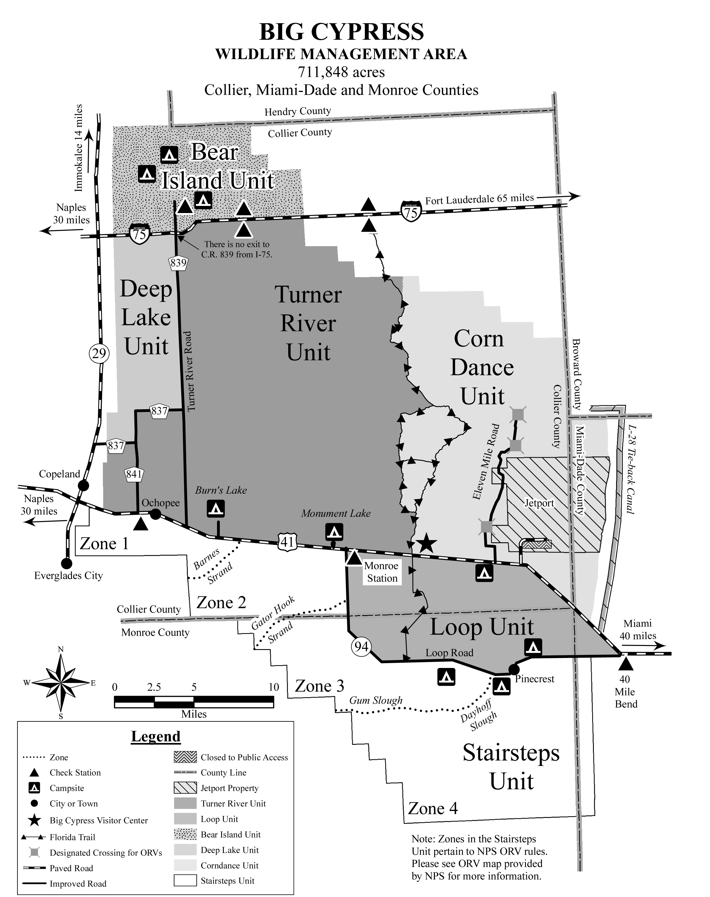 Big Cypress Bear Island trail map