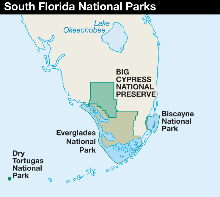 florida map of national parks