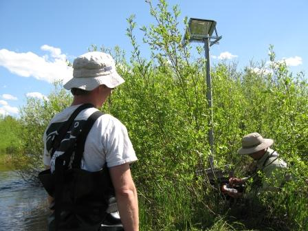 Aquatic Biologists collecting water quality data