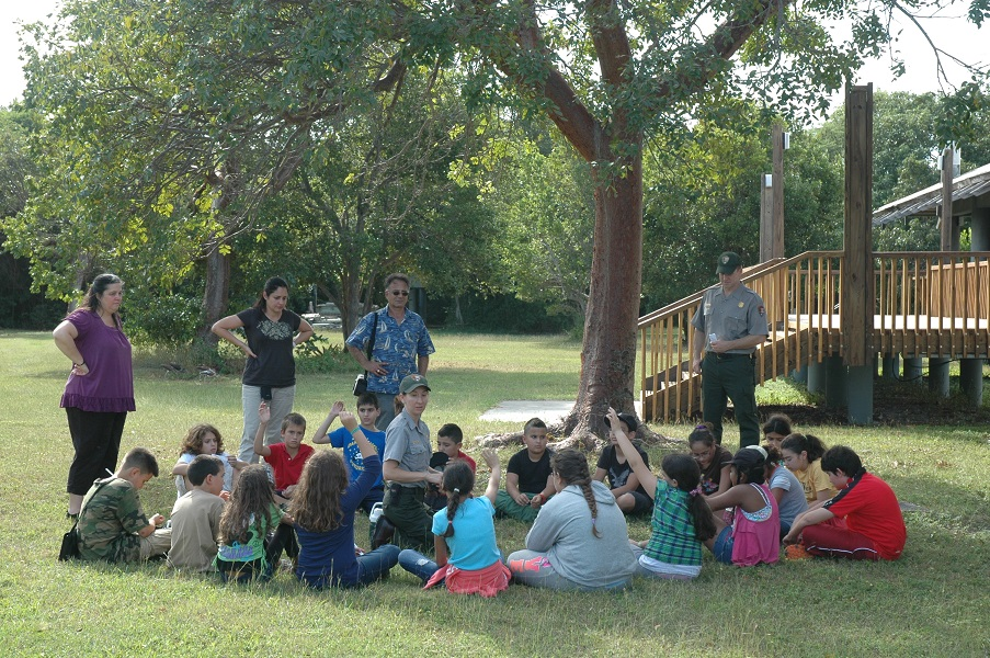 Environmental education program at Elliott Key