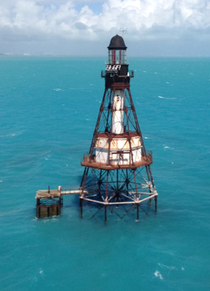 Fowey Rocks Lighthouse Biscayne National Park U S